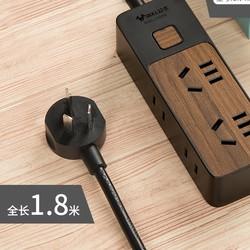 BULL 公牛 GN-R1440 家用多功能木纹插排 4插位(1.8m)