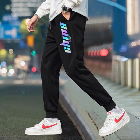 红蜻蜓运动裤春季新款男士裤潮流行系绳卫裤帅气百搭时尚运动裤男
