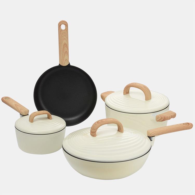 炊大皇锅具套装不粘锅四件套厨房组合厨具套装家用