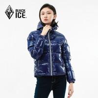 历史低价:BLACK ICE 黑冰 F8186 女款亮面鹅绒羽绒服