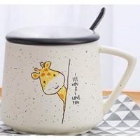 26日0点:UP STYLE 悠家良品 陶瓷马克杯 带盖勺 400ml