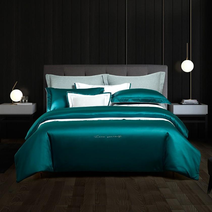 MENDALE 梦洁家纺 长绒棉四件套 绿色 1.5m床