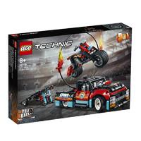 LEGO 乐高 机械组系列 42106 卡车与摩托车特技表演