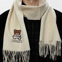 考拉海购黑卡会员:MOSCHINO 莫斯奇诺 印花图案logo经典保暖围巾