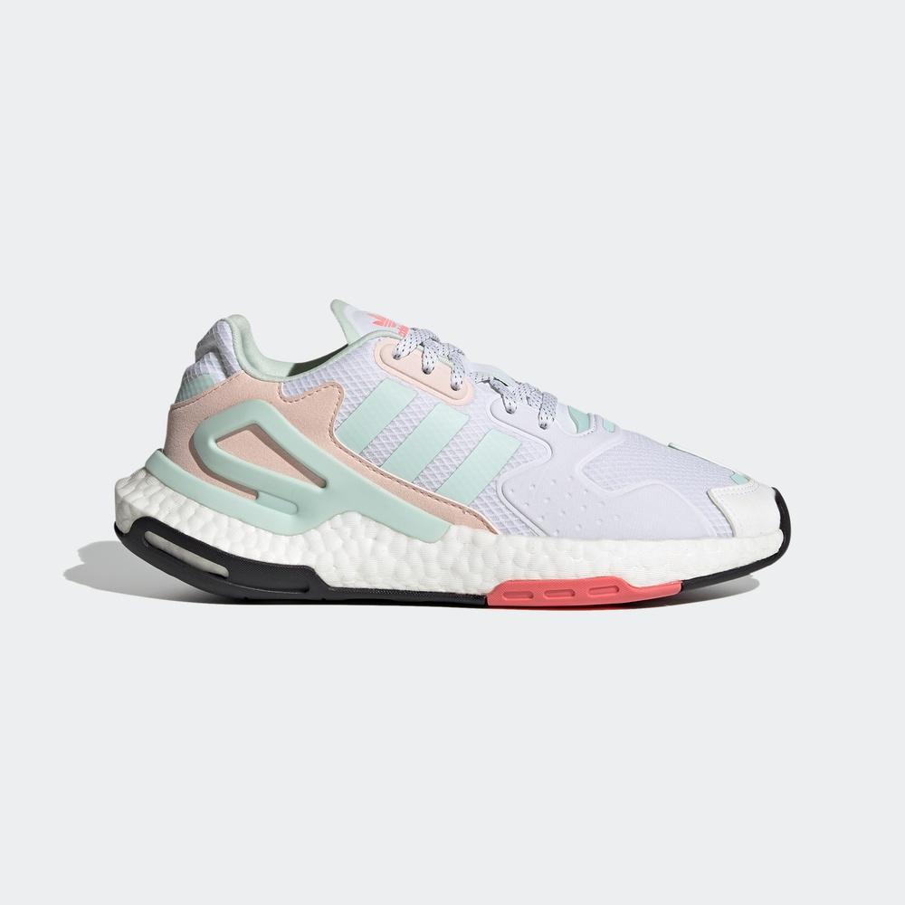 adidas Originals Day Jogger W 女子休闲运动鞋 FY3018 白色/粉色/绿色 36