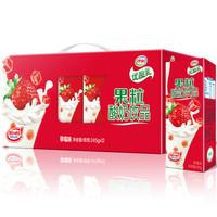 伊利 果粒优酸乳 草莓味 245g*12盒