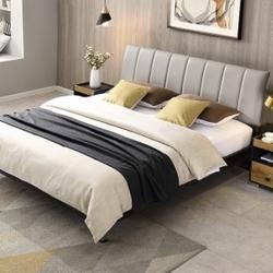 QuanU 全友 123102 简约工业风软床套餐 1.8m床+床头柜