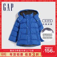 Gap男女幼童洋气加厚连帽羽绒服384503E冬季新款童装儿童保暖外套