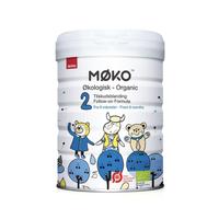 MOKO(麦蔻)奶粉 丹麦原装进口奶粉 有机婴幼儿配方奶粉 2段(6个月以上) 800g/罐 单罐 有效期至21年4月 *5件
