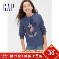 Gap男女童运动卫衣秋冬520416 洋气刺绣米奇童装
