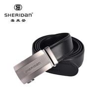 京东PLUS会员: Sheridan 牛皮自动扣 商务男士腰带 新年礼物 礼盒装+凑单品+凑单品