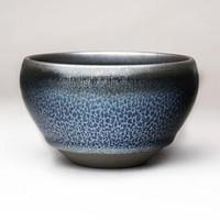 隐庐 陈俊大师出品 钵型蓝油滴茶盏