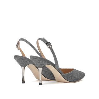 STACCATO 思加图 盛装系列 女士高跟鞋 9S677CH0 银灰 39
