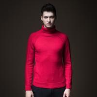 秋冬男装上衣保暖修身高领男士毛衣针织衫