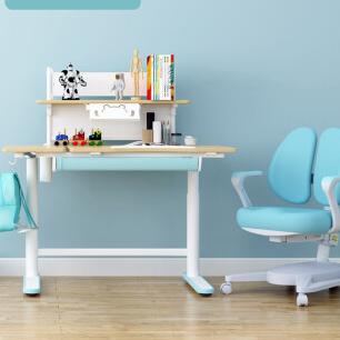 Loctek 乐歌 EC2 儿童桌椅套装 升降桌子椅子 天空蓝
