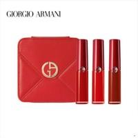 GIORGIO ARMANI 乔治·阿玛尼 丝绒哑光唇釉红管迷你礼盒 3支装