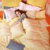 纯棉磨毛香奈儿合作设计师联名款全棉磨毛套件床上用品纯棉四件套
