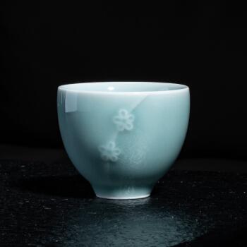 熹谷 龙泉青瓷 弟窑梅花杯