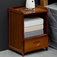 木马人床头柜子简约现代迷你小型置物架实木轻奢卧室床边简易储物