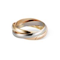 Cartier 卡地亚 TRINITY系列 中性三圈圆环18K金戒指