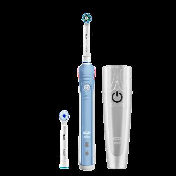 Oral-B 欧乐-B  P4000 电动牙刷 浅蓝色 旅行盒+2刷头