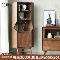 DOJUS进口全实木角柜北欧转角柜墙角柜置物架客厅三角形收纳柜