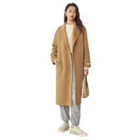 FANSILANEN 范思蓝恩 女士羊毛呢中长款大衣 204021