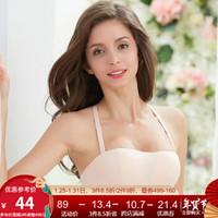 古今新款1/2中模杯聚拢文胸抹胸胸罩式美背内衣女0I9170 粉色 70B