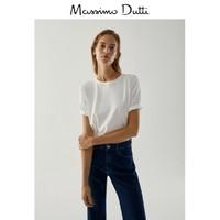 Massimo Dutti  06837798251 女装棉垫肩设计女士T 恤