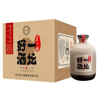 金六福 一坛好酒 40.8%vol 兼香型白酒 500ml*4瓶 整箱装