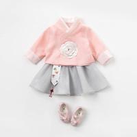 davebella 戴维贝拉 DB12874 女童中国风汉服两件套