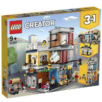 LEGO 乐高 Creator 3合1创意百变系列 31097 宠物店和咖啡厅排楼