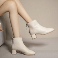 RUXI 如熙 180949702B5 女士方头短靴