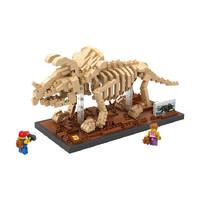LOZ 俐智 7024 沧龙恐龙化石 704颗粒