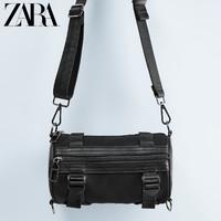 ZARA 13528005040 男士黑色管状黑色时尚休闲腰包