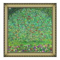 克里姆特风景油画《苹果树》沙发背景墙装饰画挂画 宫廷金 44×44cm