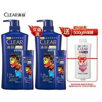 CLEAR 清扬 运动专研系列 深海劲透型男士洗发水 (720g*2瓶+100g*2瓶+赠洗发水环保装500g) *2件