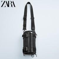 ZARA 13528005040 男士黑色管状腰包