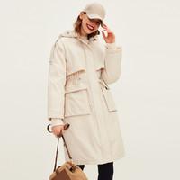 super.natural R1URW016590012 女款可调节连帽廓形羽绒服