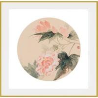 周磊作品版画《二十四节气》系列 沙发背景墙装饰画 白露 50*50cm