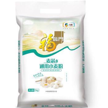 福临门 中高筋粉 麦芯通用小麦粉 5kg *8件