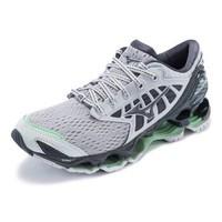Mizuno美津浓高端耐磨透气女款慢跑鞋 预言9 J1GR2000 灰色/黑色/浅蓝色 38.5