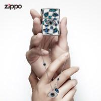 zippo施华洛世奇联名打火机贝壳镶嵌ZCBEC-72 限量情侣礼盒