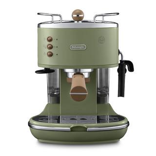【直营】Delonghi/德龙 ECO310半自动咖啡机复古意式泵压小型