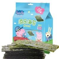 Peppa Pig 小猪佩奇 儿童即食紫菜原味海苔片 1.5g*8包 *2件