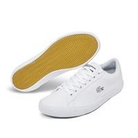 限尺码:LACOSTE M0056RM2 男士拼接低帮帆布鞋