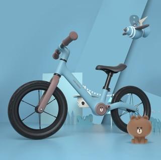 700Kids 柒小佰 儿童平衡车+头盔 充气款 布朗熊
