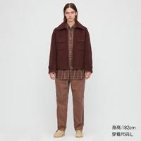 UNIQLO 优衣库 432516 男款毛料摇粒绒茄克