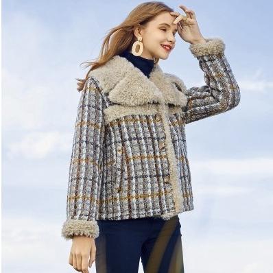 MEETLADY 米莱达 ALW015K 女士翻领毛衣外套