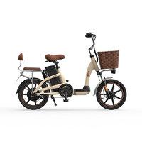 HIMO C系列 C16 电动助力自行车 TDR17005 48V12Ah锂电池 卡其色